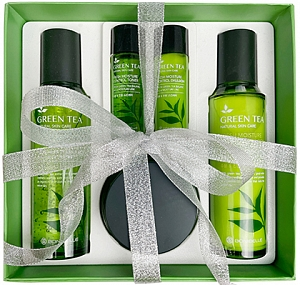 Enough~Набор для лица с зеленым чаем~Green Tea Moisture Control 3Set