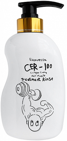 Elizavecca~Маска для волос~CER-100 Collagen Coating Hair Muscle Treatment Rinse