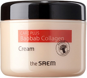 The Saem~Крем коллагеновый с экстрактом баобаба~Care Plus Baobab Collagen Cream