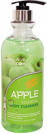 FoodaHolic~Гель для душа с экстрактом яблока~Apple Essential Body Cleanser