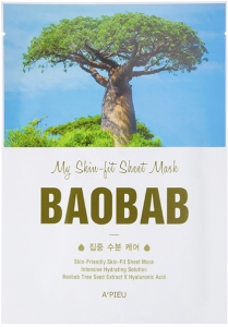 A'Pieu~Тканевая маска с экстрактом баобаба~My Skin-Fit Sheet Mask Baobab