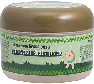 Elizavecca~Гелевая коллагеновая маска~Green Piggy Collagen Jella Pack