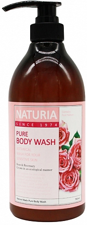 EVAS NATURIA~Гель для душа с розой и розмарином~Naturia Pure Body Wash Rose & Rosemary
